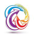 Arrows abstract conceptual symbol template 3d vector image vector image