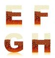 alphabet dark beer efgh vector image
