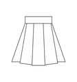 Skirt icon vector image