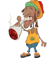 African man rastaman cartoon vector image