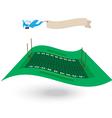amerian football field flying flag vector image