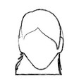 anonymous faceless woman vector image