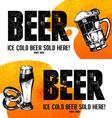 Banners of Oktoberfest beer design Hand drawn vector image
