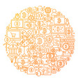 Bitcoin line icon circle design vector image