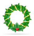 christmas wreath stock vector image
