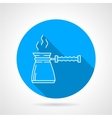 Line icon for coffee pot vector image