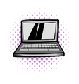 Modern laptop screen display comics icon vector image