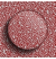 Red sequins backgeound Valentines Day vector image