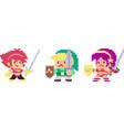 set of pixel characters vector image