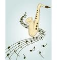 Stylish of saxophone vector image