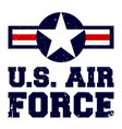 t-shirt print design us air force vintage vector image