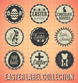 Vintage Happy Easter Labels and Badges vector image