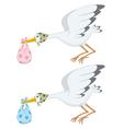 Stork vector image vector image
