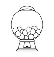 Gum balls dispenser candy icon image vector image