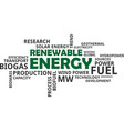 word cloud - renewable energy vector image