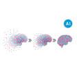 Artificial intelligence brain vector image