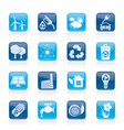 Ecology and recycling icons vector image