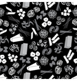 types of pasta food black and gray pattern eps10 vector image