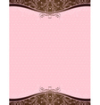 pink background with decorative ornaments vector image