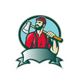 Lumberjack Forester With Axe vector image