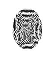 Fingerprint black isolated fingerprint on vector image
