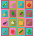 vegetables flat icons 19 vector image vector image