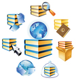 Concept for books and knowledge vector image vector image