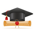 academic graduation mortarboard square cap vector image