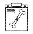 bone broken xray vector image