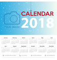 calendar 2017 template design week starts from vector image