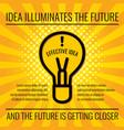 creative idea business concept background vector image