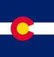 flag of colorado usa vector image