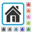 open house door framed icon vector image