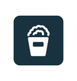 popcorn icon Rounded squares button vector image