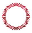 red celtic frame vector image