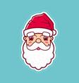 santa claus cute face icon vector image