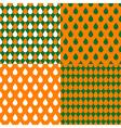 Set Orange Green Water Drops Background vector image