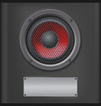 Sound speaker with metal plate vector image