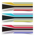 Striped fabric textured banners vector image