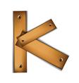 Wooden type k vector image