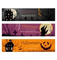 Three Halloween Banners copy vector image