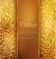gold vintage background vector image vector image