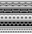 Aztec tribal seamless pattern with animals vector image vector image