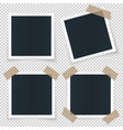 set of 4 different image frames with shadow vector image