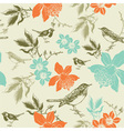 Vintage Birds Pattern vector image