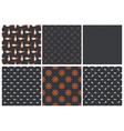 set dark seamless marine pattern vector image