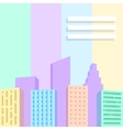 Big city scene vector image