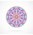 Bright Color Mandala over white vector image