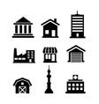 Buildings and architectural icons vector image