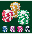 casino chip stacks vector image